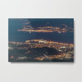 Breathtaking landscape at evening Metal Print