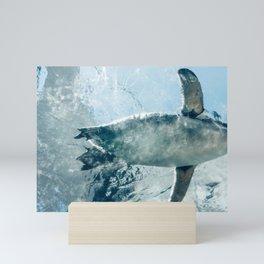 Swimming Penguin Mini Art Print