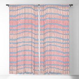 Artsy Blue Pink Glitter Gradient Geometric Stripes Blackout Curtain