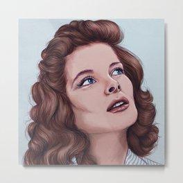 Katharine Hepburn Metal Print