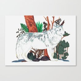 The Wolf Wanderer Canvas Print
