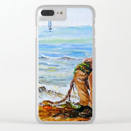 A Day with Granddad Clear iPhone Case