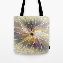 Floral Fantasy, Abstract Fractal Art Tote Bag