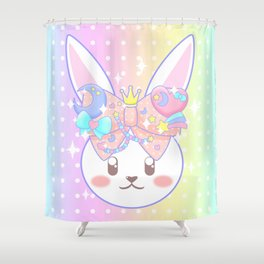 Fairy Kei Decora Bunny Shower Curtain