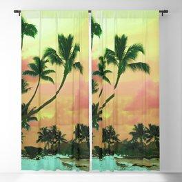 Bora Bora Tahiti Sunset 2 Blackout Curtain