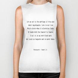 Shakespeare's Sonnet 116 Quote Biker Tank