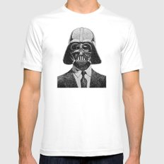Darth Vader portrait MEDIUM White Mens Fitted Tee