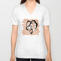 oriental V-neck T-shirts featuring oriental colors by Sandyshow