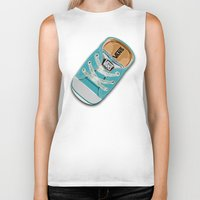 vans Biker Tanks featuring Cute blue teal Vans all star baby shoes iPhone 4 4s 5 5s 5c, ipod, ipad, pillow case and tshirt by Three Second