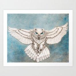 Smoke Owl Art Print
