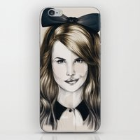 minnie iPhone & iPod Skins featuring Minnie by Seventy Two Studio