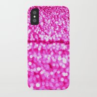 glitter iPhone & iPod Cases featuring Fuchsia Pink Glitter Sparkle by Whimsy Romance & Fun