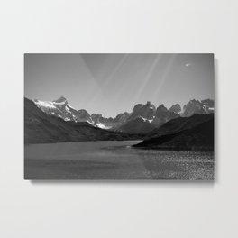 Patagonia Black and White Metal Print