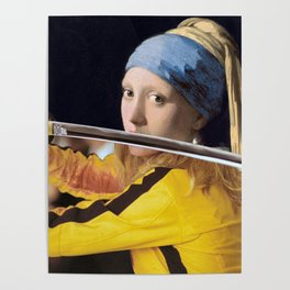 """Vermeer's """"Girl with a Pearl Earring"""" & Kill Bill Poster"""