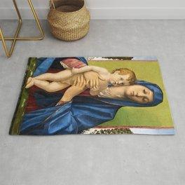 """Giovanni Bellini """"Madonna of the Small Trees (Madonna degli Alberetti)"""" Rug"""