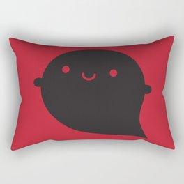 Evil Twin Black Ghost - Kawaii Halloween Rectangular Pillow