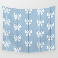 bows Wall Tapestries featuring Bows by Pink Berry Patterns