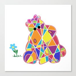 Squeeze me Tight, Little Hippo - Children - Stuffed Animal - 57 Montgomery Ave Canvas Print