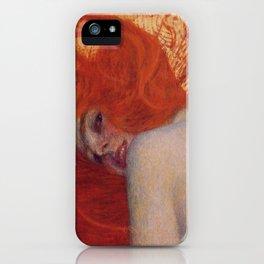 Gustav Klimt, Goldfish, (detail) 1901-1902 iPhone Case