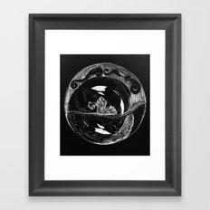 Orca Flow black-and-white Framed Art Print