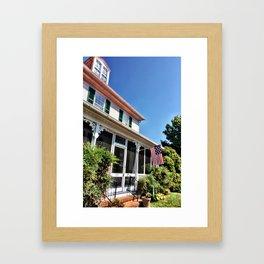 Yellow House on the Street Framed Art Print
