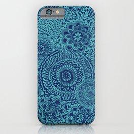 Tossed Blue mandalas iPhone Case