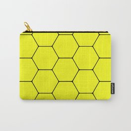 Beehive - Black and yellow hexagon, beehive, honeycomb pattern Carry-All Pouch
