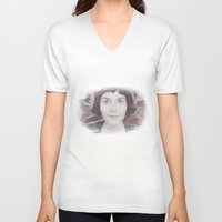 amelie V-neck T-shirts featuring Amelie by EclipseLio