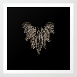 Elegant Feather Talisman with Bird Feathers Art Print