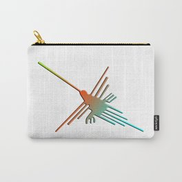Colorful 3D Nazca Lines Hummingbird Carry-All Pouch