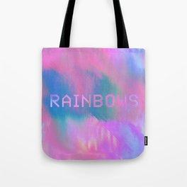 RAINBOWS 13-17-07 (rainbow cloud glitch) Tote Bag