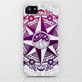 Journey to Moon Mountain   Purple & Magenta Ombré iPhone Case