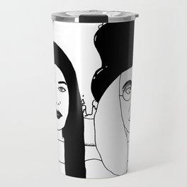 Two Weirdos in a Pod Travel Mug