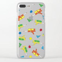 Waterguns Pattern Clear iPhone Case