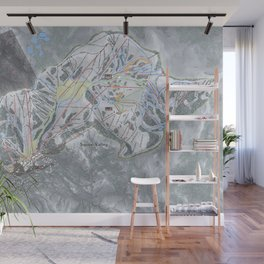 Squaw Valley Resort Trail Map Wall Mural