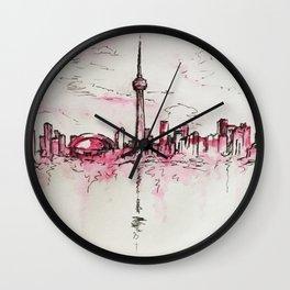 Lines of a Toronto Sky Wall Clock