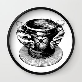 Potter's Ink Art Wall Clock
