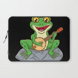 Frog Playing Banjo Banjo Player Gift Laptop Sleeve