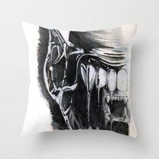 Alien Face. Throw Pillow