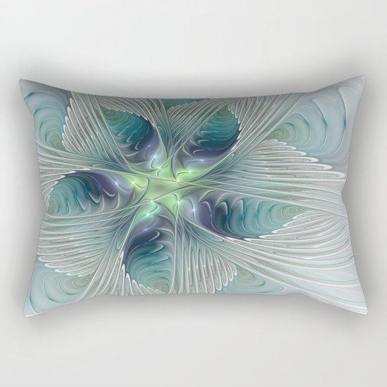 A Floral Fantasy, Abstract Fractal Art Rectangular Pillow