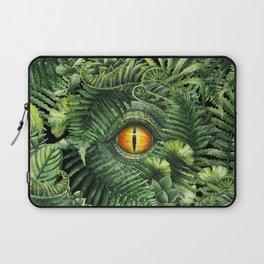 Watercolor dinosaur eye and prehistoric plants Laptop Sleeve
