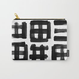 brush traces black Carry-All Pouch