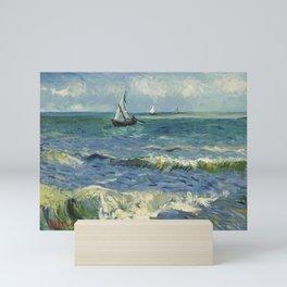 Vincent van Gogh - Seascape near Les Saintes-Maries-de-la-Mer Mini Art Print