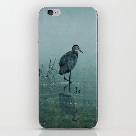 Blue Heron Misty Morning iPhone & iPod Skin