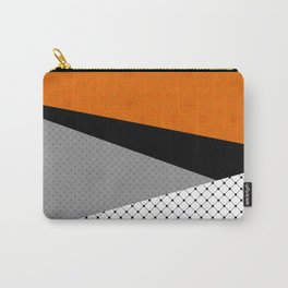 Abstract black orange painting . Carry-All Pouch