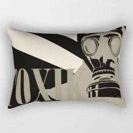 Art print: The gas mask pop art Rectangular Pillow