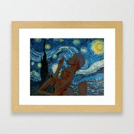 Starry Night Lover Framed Art Print
