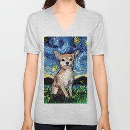 Chihuahua Night Unisex V-Neck