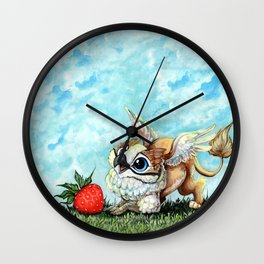 Strawberry Griffin Wall Clock