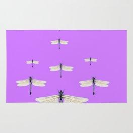 GAUZY WINGED DRAGONFLIES ON LILAC Rug